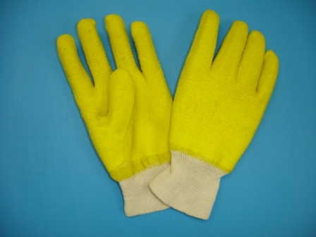 Cotton knitted full latex coated glove